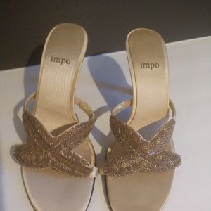 👌 Impo Beaded Sandals Gold Size 6.5
